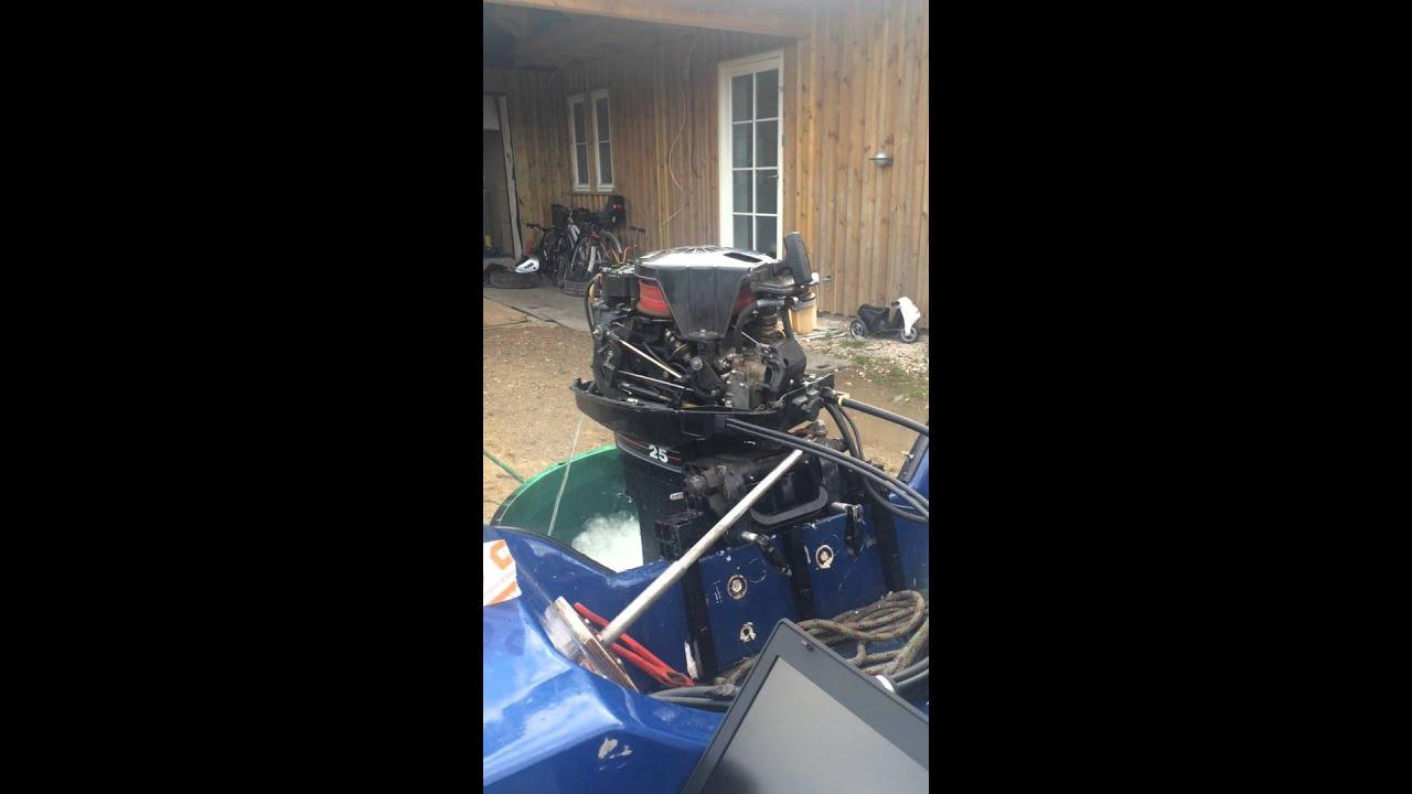 Mercury 25 HP 2 stroke - won't take full throttle