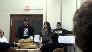 Winyan Edwards singing @ Winter Round Dance 2013