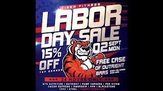 LABOR DAY SALE - SAVE 15% and FREE OUTRIGHT BARS!