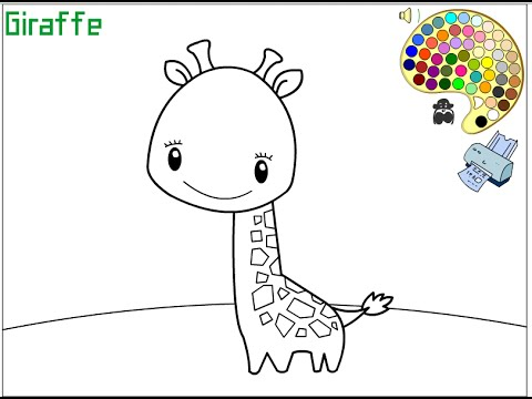 giraffe coloring pages for kids giraffe coloring pages youtube - Giraffe Coloring Pages