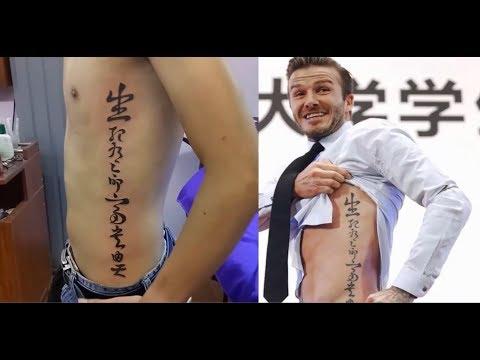 Hình xăm chữ Sinh Tử của Beckham – Mr.Tattoo Xăm Nghệ Thuật Hà Nội | Tóm tắt những nội dung nói về hình xăm bên hông cho nam mới cập nhật