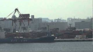 Tokyo port operations seen from the Odaiba harbor side - Sefco Japan 3l (2010)