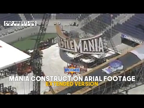 Leaked Aerial Footage Of The WrestleMania 33 Stage Construction Taking Place Extended Version (VIDEO