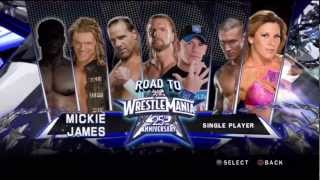 WWE Smackdown vs Raw 2010 - Road to Wrestlemania - Mickie James Story - Part 1