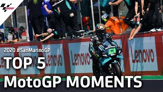 Top 5 MotoGP Moments from the #SanMarinoGP