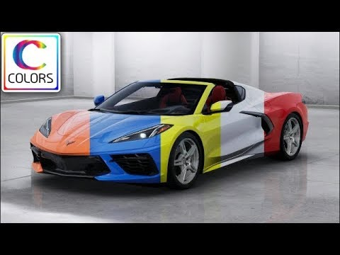 2020 Corvette Color Chart.2020 Corvette Stingray C8 Colors Configurator