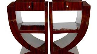 Art Deco Rosewood Nightstands Bedside Tables