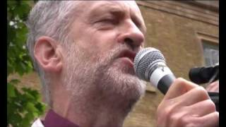 Freedom Flotilla Massacre protest | Jeremy Corbyn MP | London 31 May 2010