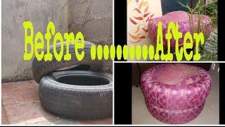 Car Tyre Seaters - DIY - No glue /No drilling