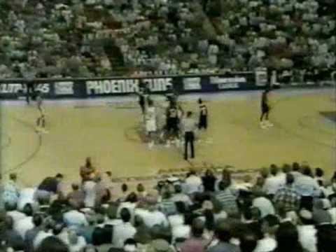 1992 NBA Playoffs - Portland at Phoenix, game four, Double OT part 1