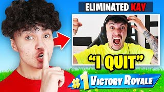 I Stream Sniped FaZe Kay Until he Rage Quit Fortnite (PART 2)
