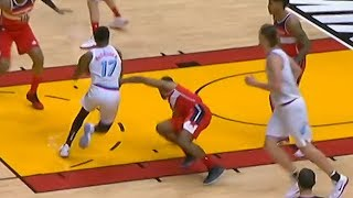 Rodney McGruder Breaks Ramon Sessions Ankles & Miami Heat Bench Goes Crazy!