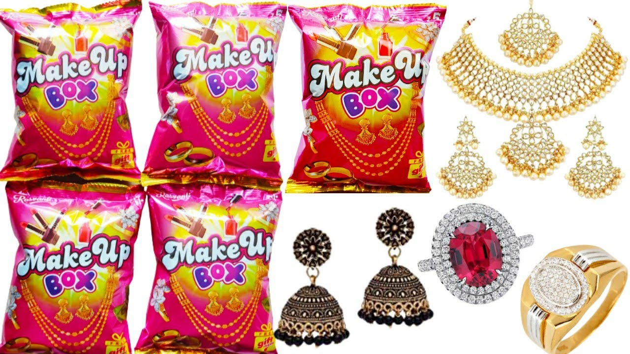 Download Make Up Box Part 4 || 5 Packet Review Make Up Box || Free Gift Inside Make Up Box || Indian Snacks