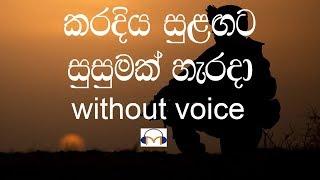 Karadiya Sulagata Karaoke (without voice) කරදිය සුළඟට සුසුමක් හැරදා