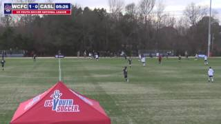 2016 National League - Boys - U17 - West Coast FC vs CASL Red 00 North - Field 1 - Day 1 - 4pm