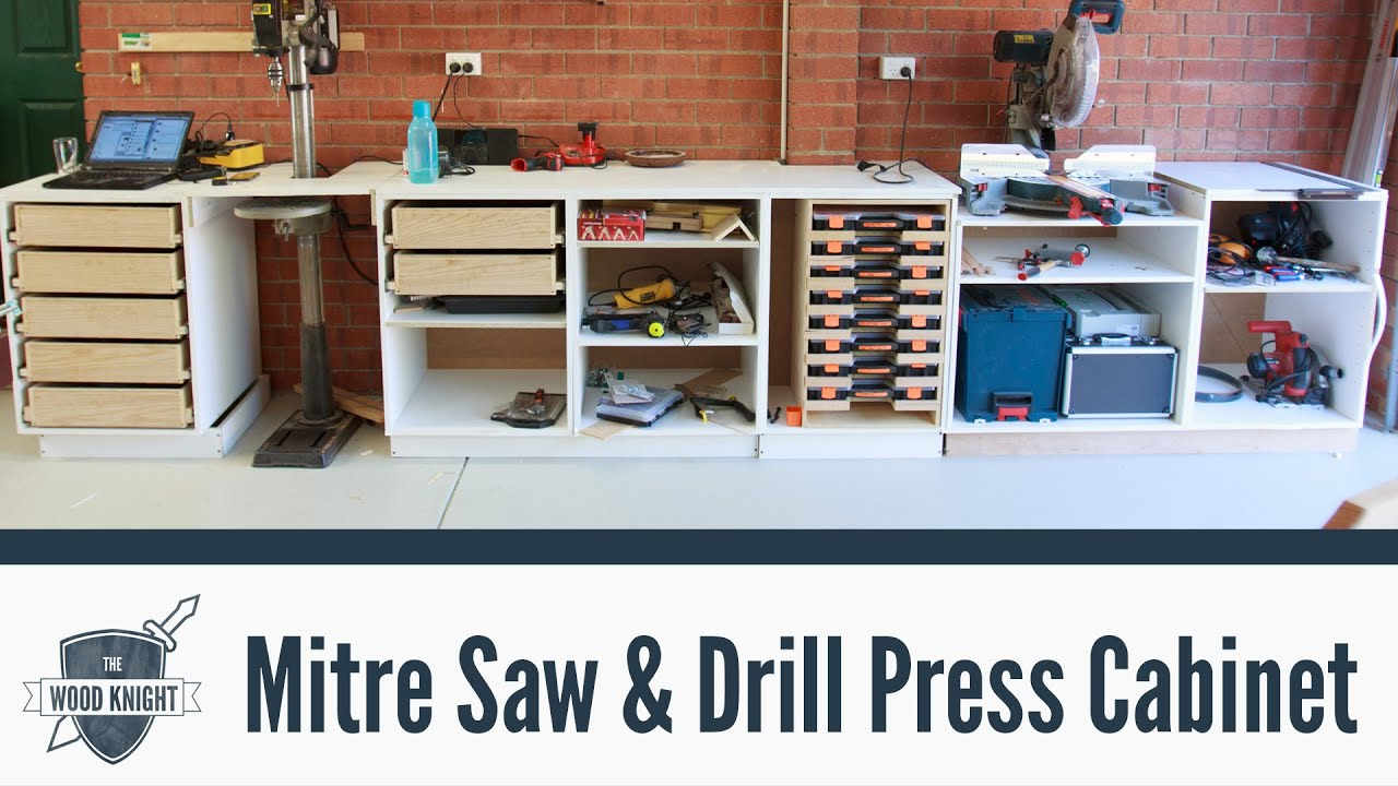086 Mitre Saw Amp Drill Press Cabinets Youtube