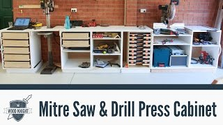 086 - Mitre Saw & Drill Press Cabinets