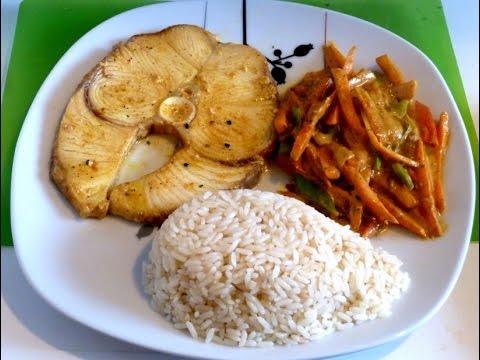 Tibur n con leche de coco receta de pescado con arroz - Arroz con pescado y verduras ...