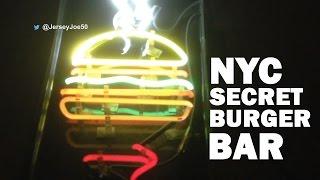 New York City Secret Burger Bar [jersey Joe #208]