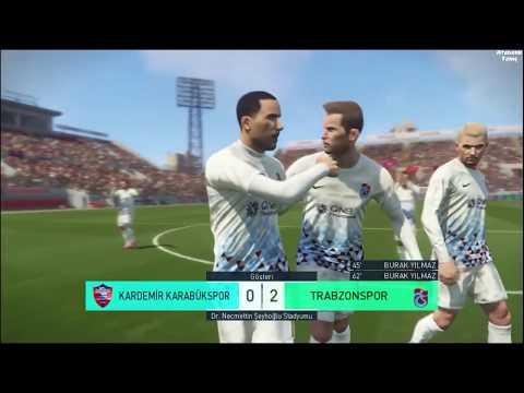 PES 2018 - KARABÜKSPOR TRABZONSPOR MAÇI TÜRKÇE SPİKERLİ - Pro Evolution Soccer 2018 PC