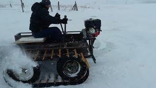 видео Снегоход - своими руками