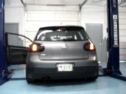 Mk5 Gti W Hella Led Tail Lights Smoked Light Youtube