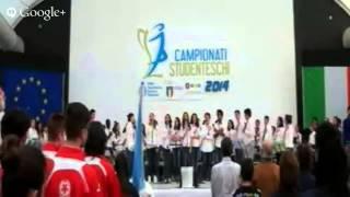 Cerimonia di apertura finali Campionati Studenteschi Pallavolo