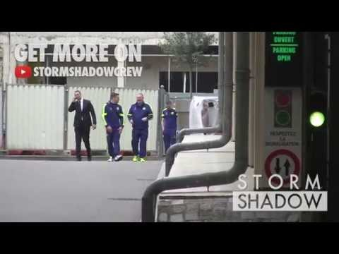 Chelsea Team had a walk behind the bars of their hotel due to security measures