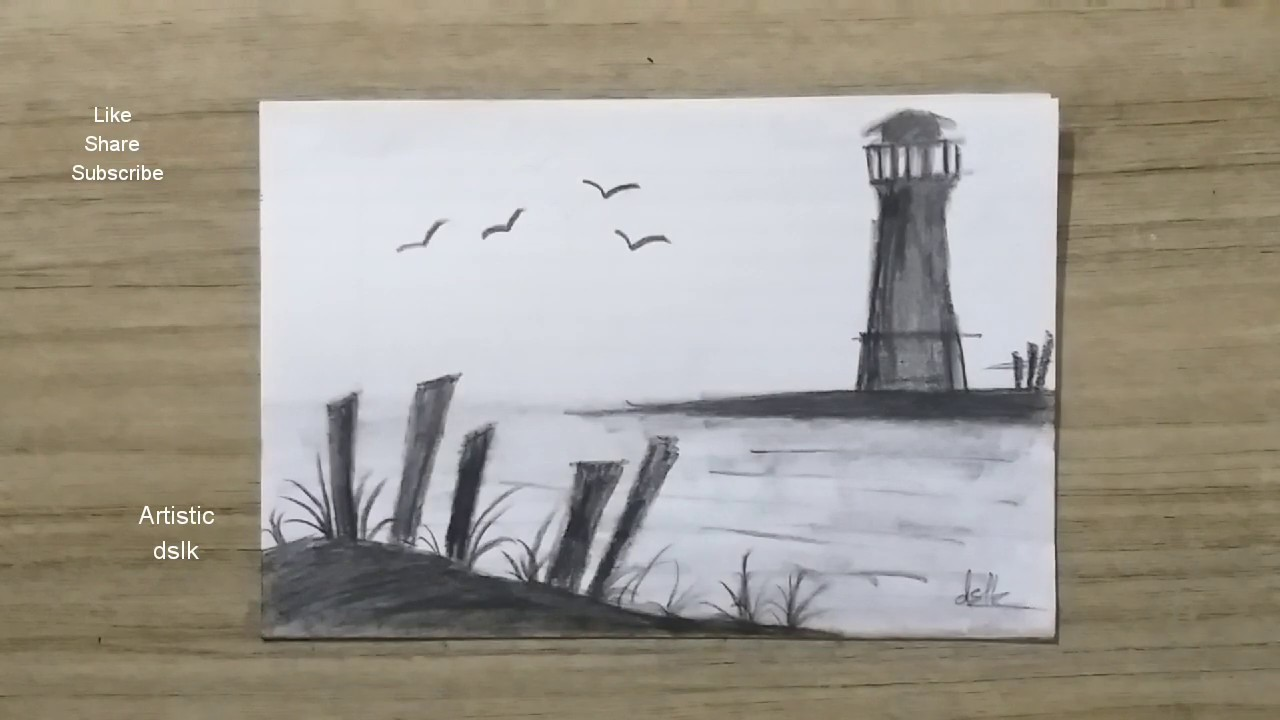 Easy Charcoal Drawing for beginners - YouTube
