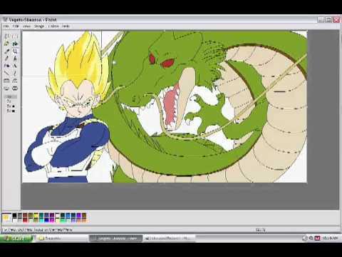 Vẽ Vegeta & Shenron bằng MS Paint