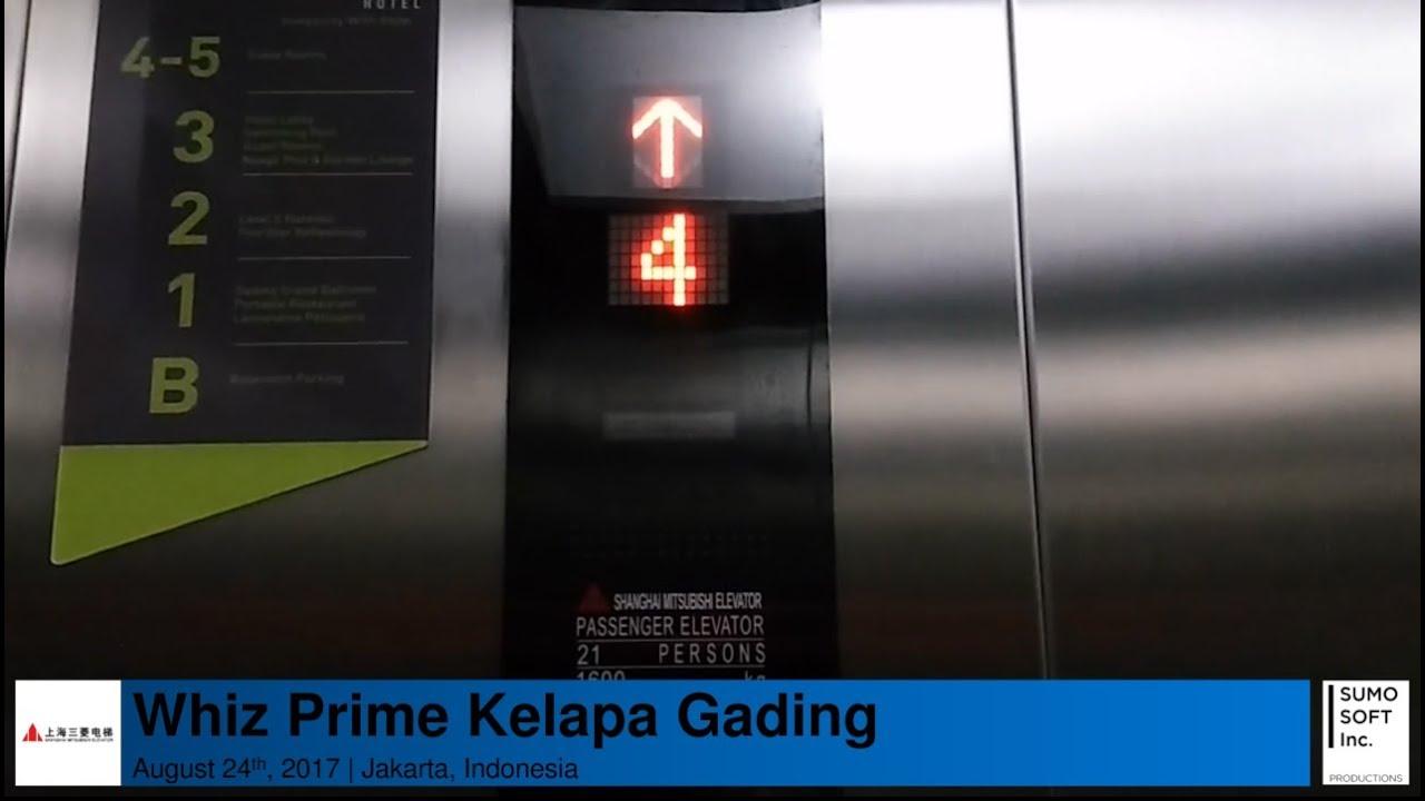 Shanghai Mitsubishi Traction Lifts Elevators At Whiz Prime Kelapa