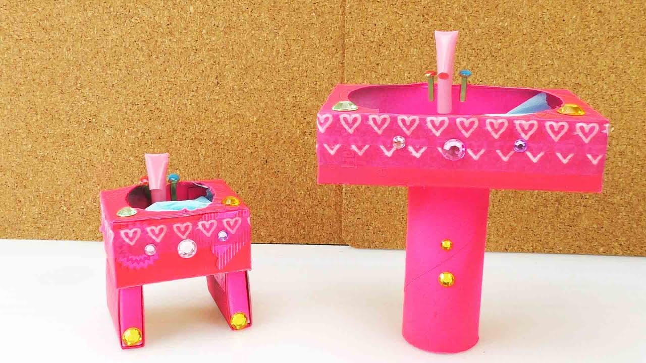 diy barbie waschbecken selber machen youtube. Black Bedroom Furniture Sets. Home Design Ideas