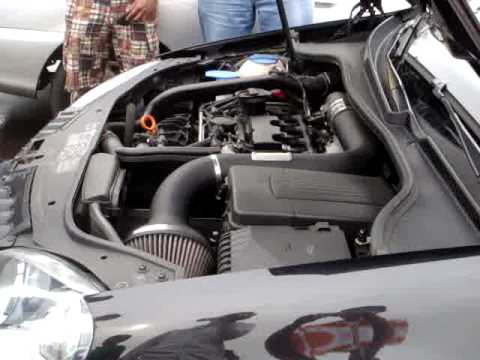 Volkswagen GTI with K&N Cold Air Intake Revving - YouTube