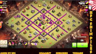 Clash of Clans - TH8 3 Star War Attack - Hog Rider and Loons Strategy