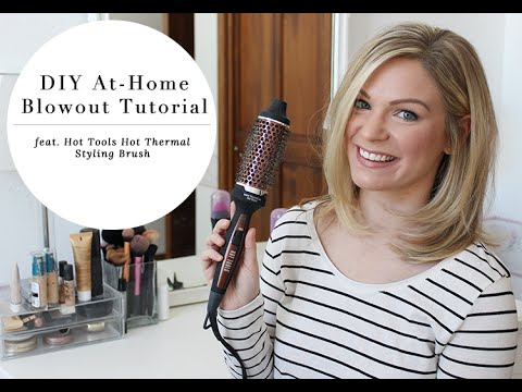 DIY Blowout Tutorial feat. Hot Tools Hot Thermal Styling Brush