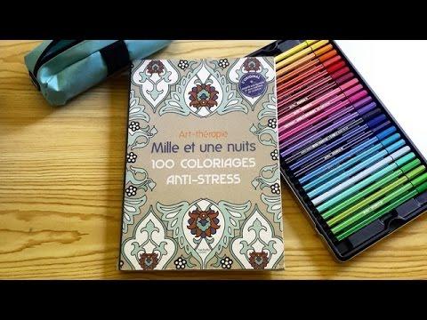 prsentation du livre art thrapie mille et une nuits 100 coloriages anti stress hachette - Coloriage Anti Stress Hachette