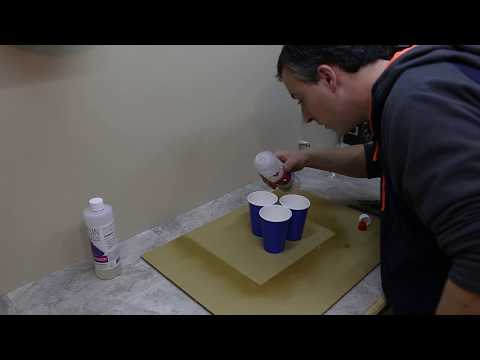 Mounting a print using epoxy resin