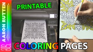 Printable Coloring Book Pages: Mandala (Coloring Digital Art with Crayola Markers)