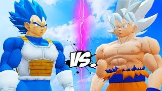 GOKU (Mastered Ultra Instinct) vs VEGETA (Royal Blue)