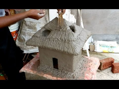 Create a cottage as tree pot