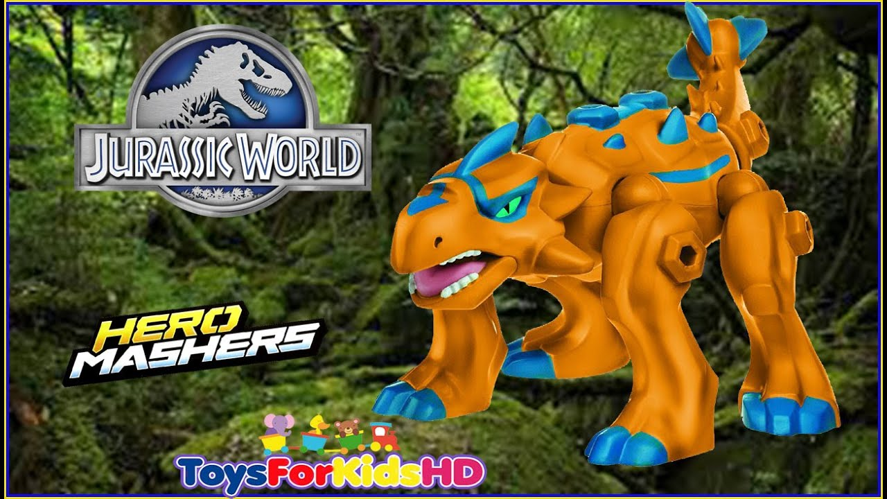 Jurassic World Ankylosaurus Hero Mashers - Juguetes de Dinosaurios ...