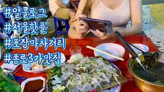 [브이로그] 서울핫플 종로3가 맛집 포장마차 거리 알콜…
