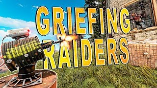 Griefing EDGY RAIDERS While DDOSED by Cheaters! | RUST