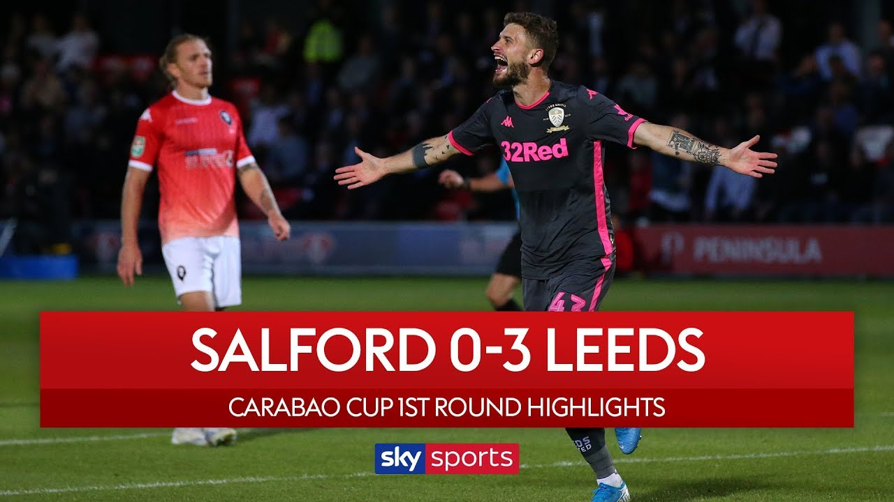 Nketiah scores on his debut! | Salford 0-3 Leeds | Carabao Cup | Highlights