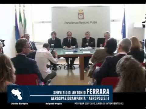 Vendola e Giordo presentano gli investimenti di Alenia Aermacchi in Puglia