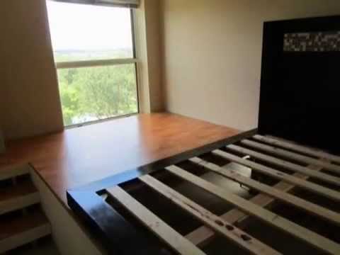 DIY Platform Bed and Storage - YouTube