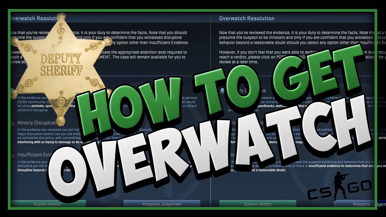 CSGO - HOW TO GET OVERWATCH (OVERWATCH SYSTEM EXPLAINED) - YouTube