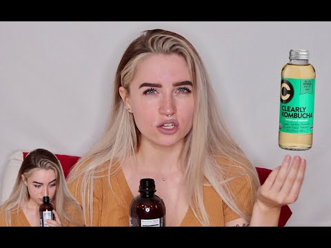 trying kombucha for the fist time aka gagging for 6 minutes