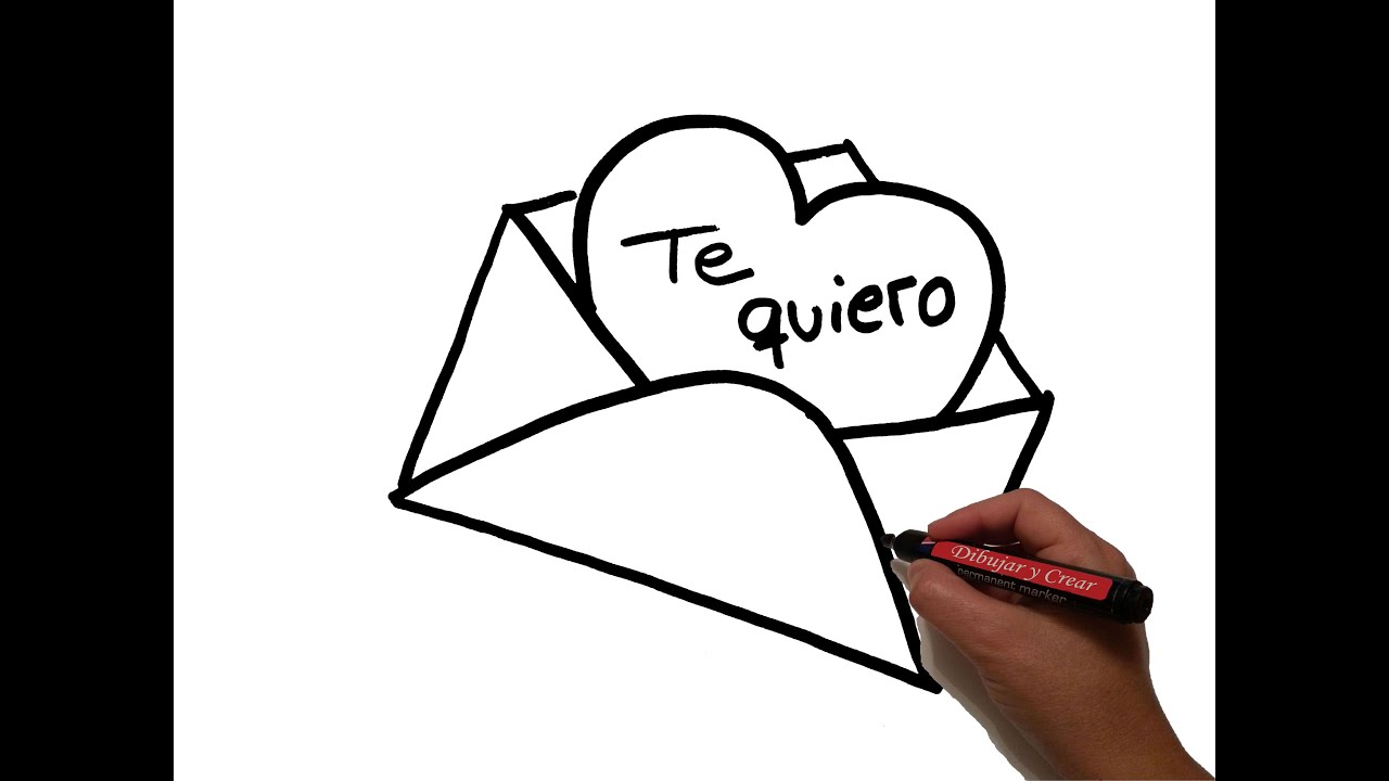 Como Dibujar Carta De Amor How To Draw Love Letter Youtube