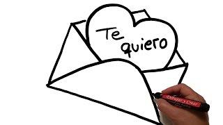 Como Dibujar: Carta de Amor  / How to draw Love Letter
